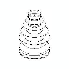 Burduf cauciuc, articulatie planetara SKODA FABIA 1.4 16V - TOPRAN 111 775 - Burduf auto