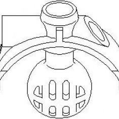 Sfera de cuplare, maneta schimbator viteze AUDI 4000 1.6 - TOPRAN 111 323 - Comanda cutie viteze