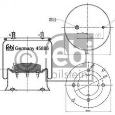 Burduf, suspensie pneumatica - FEBI BILSTEIN 45886