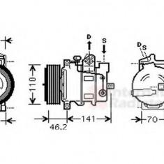 Compresor, climatizare MERCEDES-BENZ C-CLASS T-Model C 220 CDI - VAN WEZEL 3000K091 - Compresoare aer conditionat auto