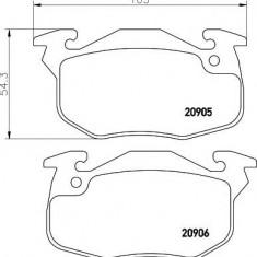 Placute frana PEUGEOT 106  1.4 D - MINTEX MDB1807 - Ventilatoare auto