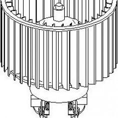 Electromotor, ventilatie interioara AUDI 100 limuzina 2.4 D - TOPRAN 111 354 - Motor Ventilator Incalzire