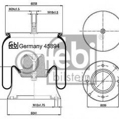 Burduf, suspensie pneumatica - FEBI BILSTEIN 45894