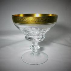 Pahar sampanie, cristal super lux, aur 24K, colectie cadou, vintage