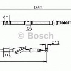 Cablu, frana de parcare HONDA ACCORD Mk IV 2.0 16V - BOSCH 1 987 482 175