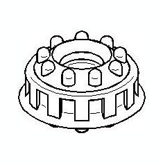 Inel, rulment sarcina amortizor AUDI 500 1.8 - TOPRAN 107 093