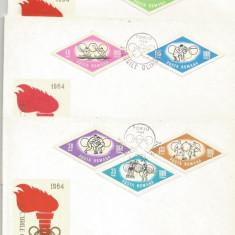 (No4) FDC ROMANIA -1964-L.P.-JOCURILE OLIMPICE DE LA TOKIO, An: 1968