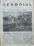 Ziarul Resboiul , nr. 69 , 1877 , gravura ; Ridicarea ranitilor la Chizil Tepe