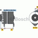 Generator / Alternator VOLVO 340-360 1.4 - BOSCH 0 986 031 641