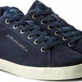 Adidasi - Tenisi Pepe Jeans London North Basic Originali, Piele Masuri 40-45 - Adidasi barbati Pepe Jeans, Marime: 41, 42, 43, 44, Culoare: Bleu, Piele intoarsa