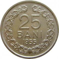 ROMANIA, 25 BANI 1955 * cod 47.3 - Moneda Romania, Cupru-Nichel