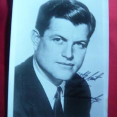 Fotografie cu autograf si dedicatie - Senatorul Edward ( Ted) Kennedy SUA