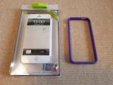 Carcasa bumper mov Muvit pentru Iphone 5, iPhone 5/5S