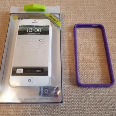 Carcasa bumper mov Muvit pentru Iphone 5 - Bumper Telefon Muvit, iPhone 5/5S