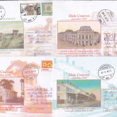 Bnk fil Craiova - lot 8 intreguri postale 2000 circulate, Dupa 1950