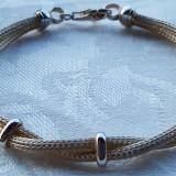 COLIER argint si BRATARA argint SET de efect SPLENDID elegant IMPECABIL Italia - Set bijuterii argint