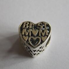 Talisman Pandora din argint -791882-Cea mai buna mama - Pandantiv argint
