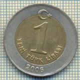 10230 MONEDA - TURCIA - 1 YENI TURK LIRASI -anul 2006 -starea care se vede, Africa