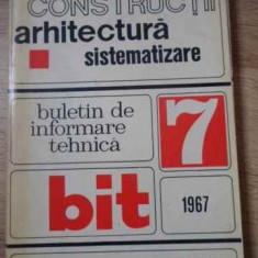 Constructii, Arhitectura, Sistematizare. Buletin De Informare - Colectiv ,394573