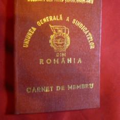 Carnet de Membru la UGSR - Doru-Niculescu-Mizil - Diploma/Certificat