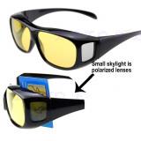 Ochelari pentru condus pe timp de noapte night vision, Unisex, Plastic, Galben