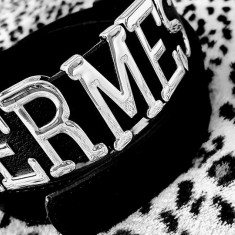CURELE HERMES/LOGO METALIC ARGINTIU /NEW MODEL - Curea Dama Hermes, Marime: Marime universala, Culoare: Negru