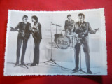Fotografie Formatia  Beatles , dim.= 13,8x8,8 cm