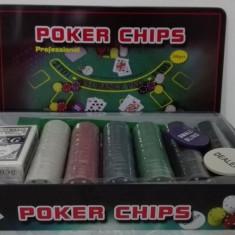 Trusa Poker 300 Jetoane Nou Cutie Metalica. SIGILAT! - Poker chips