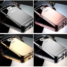 Husa - Bumper Aluminiu + Spate Oglinda-Samsung A5 2016/S6Edge/S7 Edge