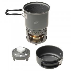 Esbit Arzator Spirt Solid + Set Vase anodizate si suport CS985HA