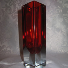 VAZA CRISTAL COLORAT / STICLA MURANO TIP SOMMERSO - Vaza sticla