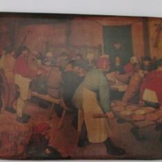 4-PETRECERE TARANEASCA-2-tablou-pictura pe lemn