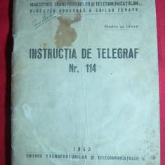 Ministerul Transporturi si Telecomunicatii - Instructia de Telegraf -1963 + Feli