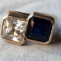 Inel argint cu pietre semipretioase VECHI Contrast SUPERB de Efect ELEGANT