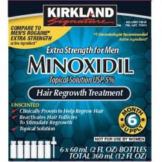 Minoxidil 5% Kirkland Solutie impotriva caderii parului - Pachet 6 LUNI--SUA