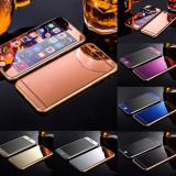 Folie sticla colorata, oglinda fata-spate Iphone 6/6s / 6 Plus/6S Plus