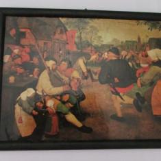 3-PETRECERE TARANEASCA-tablou-aplica-pictura pe carton
