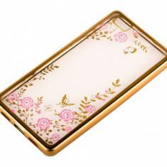 Husa silicon TPU Huawei P8lite Beeyo Secret Garden Aurie Roz Blister Originala - Husa Tableta