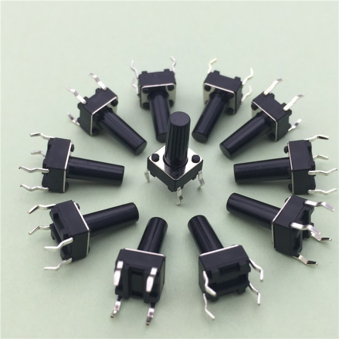 (10buc ) Butoane dip 6x6x12mm , buton, tastatura, micro-intrerupator, Arduino foto mare