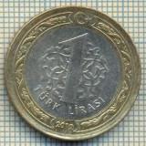 10231 MONEDA - TURCIA - 1 TURK LIRASI -anul 2012 -starea care se vede, Africa