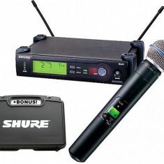 Microfon Shure Incorporated PROFESIONAL SHURE SLX4 BETA 58A, SUNET HI-FI, VALIZA SHURE BONUS.SIGILAT