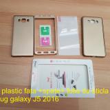 Husa plastic  fata + spate+ folie de sticla samsug galaxy J5 2016, Alt model telefon Samsung, Auriu