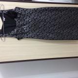 Rochie de ocazie - Rochie de seara Yokko, Marime: 38, Culoare: Argintiu, Maxi, Voal