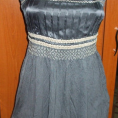 NOU Maieu bluza top de dama gri satinat cu bretele brand NEXT 36 XS S - Bluza dama H&m, Fara maneca, Casual