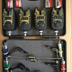 Set 4 avertizoare TLI 21 + 4 swingere cu iluminare si valigeta transport - Avertizor pescuit