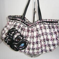 Poseta dama handmade vintage, textil, marime medie!