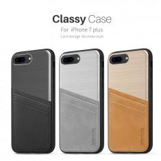 Husa iPhone 7 Plus Classy Case by Nillkin Silver - Husa Telefon Nillkin, Argintiu, Fara snur, Carcasa