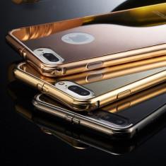 Husa - Bumper Aluminiu + Spate Oglinda - Iphone 7 Plus - Bumper Telefon Apple