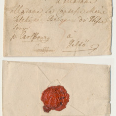 Plic prefilatelic 1784 stampila foarte rara Hermannstadt - Sibiu via Alba Iulia