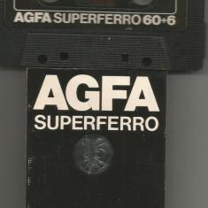 A(01)  Caseta audio-AGFA superferro 60+6